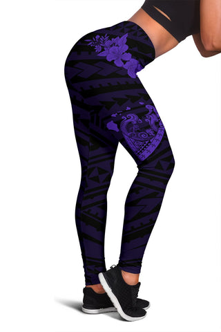 Image of Hawaii Hibiscus Banzai Surfing Women's Legging