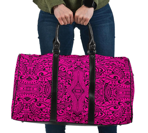 Polynesian Culture Pink Hawaii Travel Bag