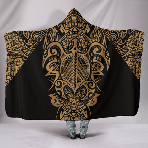 Image of Hawaii Turtle Polynesian Hooded Blanket - Armor Style