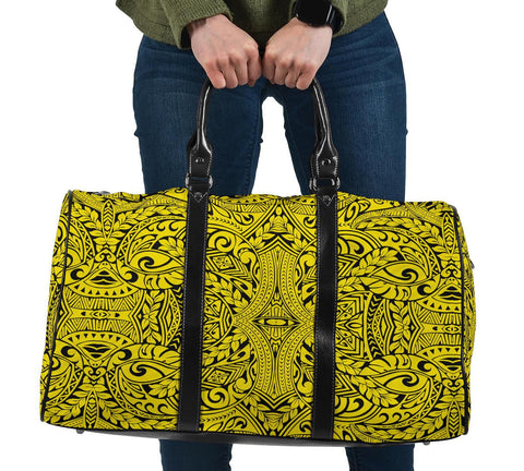 Polynesian Culture Yellow Hawaii Travel Bag