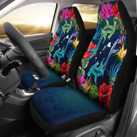 Hawaii Shark Tropical Color Car Seat Cover - AH - J4 - Alohawaii