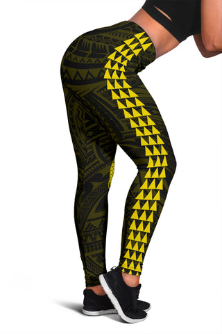Image of Hawaii Turtle Shark Polynesian Leggings