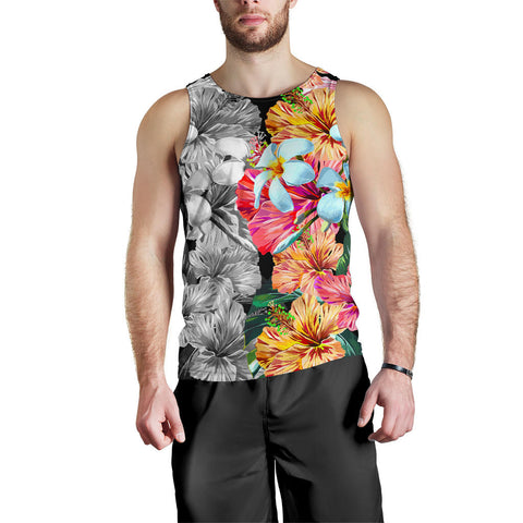 Hawaii Forest Tropical Flower Men's Tank Top