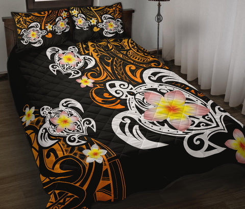 Hawaii Turtle Quilt Bed Set