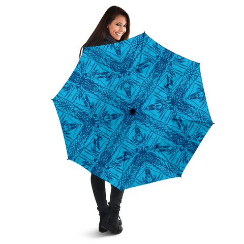 Polynesian Umbrella Grown Blue White - AH - J1 - Alohawaii