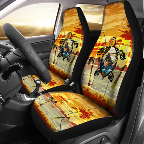 Image of Hawaii Turtle Coconut Tree Car Seat Covers