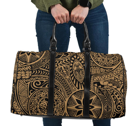 Polynesian Hawaiian Style Tribal Tattoo Gold Hawaii Travel Bag
