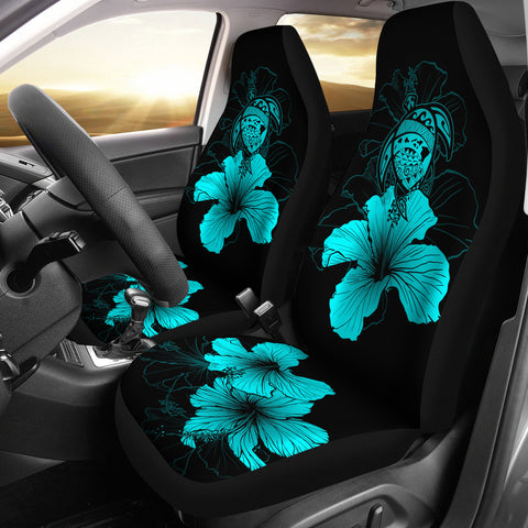 Hawaii Hibiscus Car Seat Cover - Turtle Map