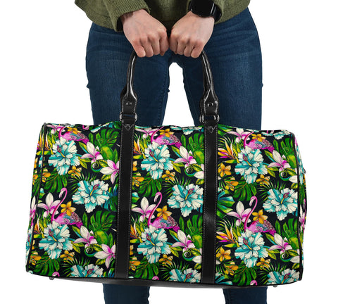 Animals And Tropical Flowers Hawaii Travel Bag