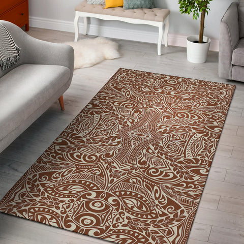 Polynesian Brown Area Rug - AH J9 - Alohawaii