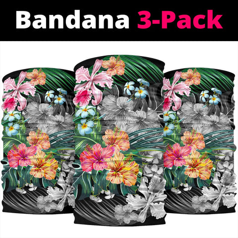 Hawaii Tropical Plumeria Hibiscus Bandana 3-Pack - AH - J5 - Alohawaii