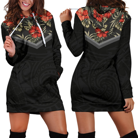 Image of Hibiscus Hoodie Dress 01 - AH - Alohawaii