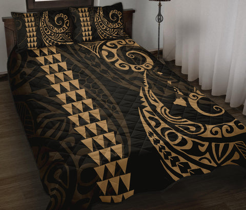 Image of Hawaii Polynesian Quilt Bed Set
