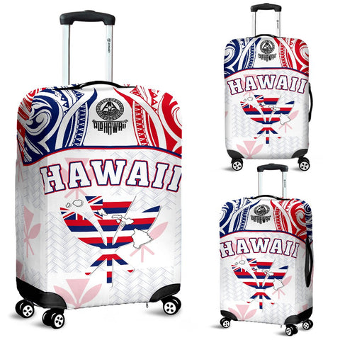 Hawaiian Kanaka Luggage Covers Flag Nation Demodern White