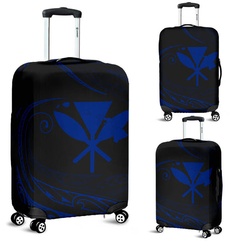 Kanaka Luggage Covers - Blue - Frida Style - AH J91 - Alohawaii