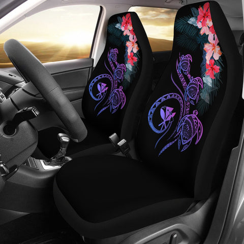 Hawaii Turtle Polynesian Tropical Car Seat Cover - Cora Style Pink