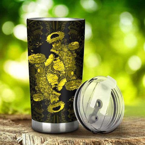 Hawaii Polynesian Hula Girl Tumbler Yellow - AH - J5 - Alohawaii