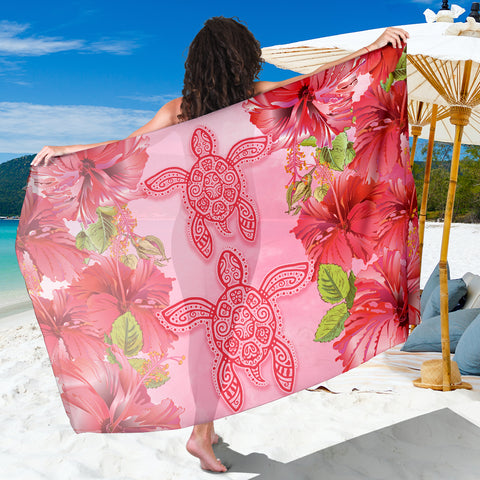 Hawaii Turtle Hibiscus Sarong