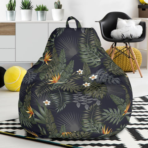 Hawaii Tropical Leaves And Flowers In The Night Style Bean Bag Chair - AH - J71 - Alohawaii