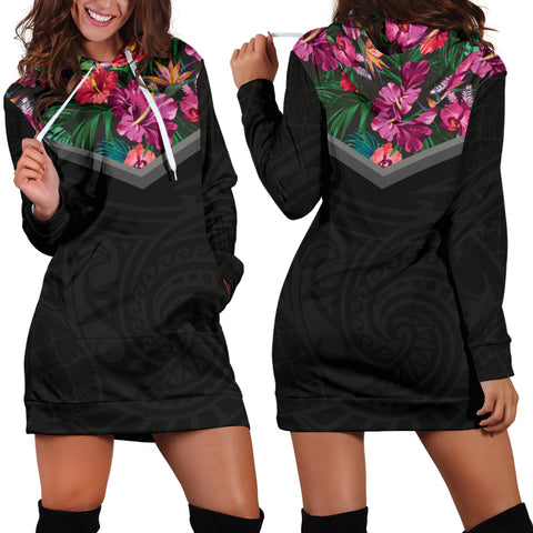 Image of Hibiscus Hoodie Dress