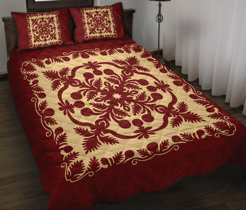 Hawaiian Quilt Royal Quilt Bed Set - AH J9 - Alohawaii