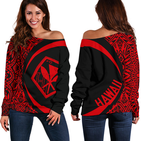 Kanaka Polynesian Women's Off Shoulder Sweater