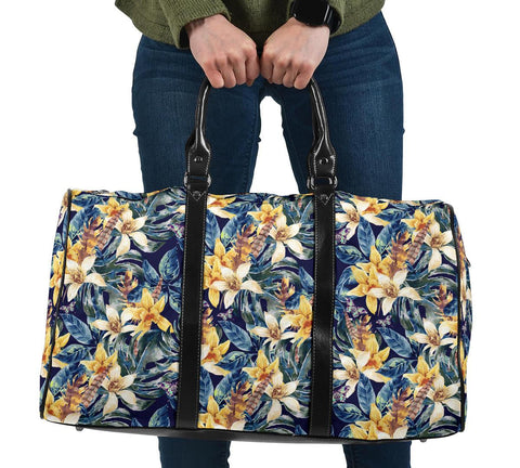 Vintage Floral Hawaii Travel Bag