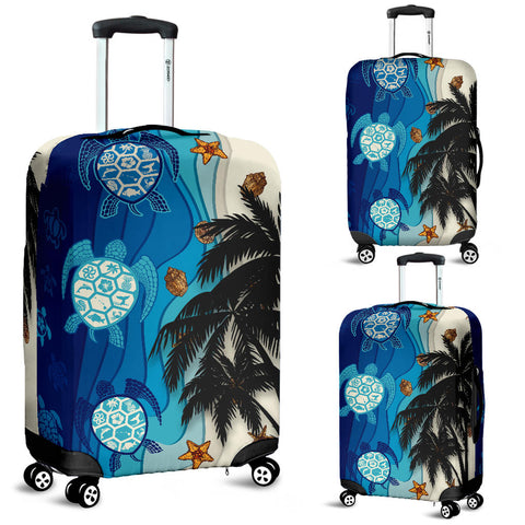 Hawaiian Sea Turtle Symbol Palm Luggage Covers