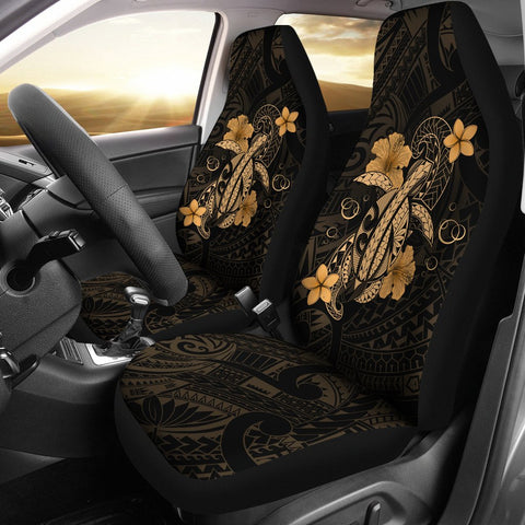 Hawaii Turtle Flower Polynesian Car Seat Covers - Gold - AH J4 - Alohawaii