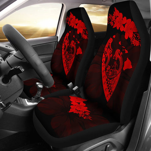 Hawaii Hibiscus Banzai Surfing Car Seat Cover V2 Red - AH - J5 - Alohawaii