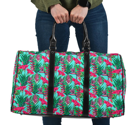 Tropical Strelitzia Blue Hawaii Travel Bag