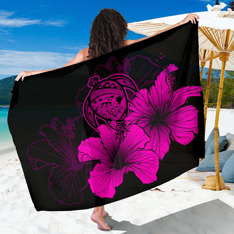 Image of Hawaii Hibiscus Sarong - Turtle Map