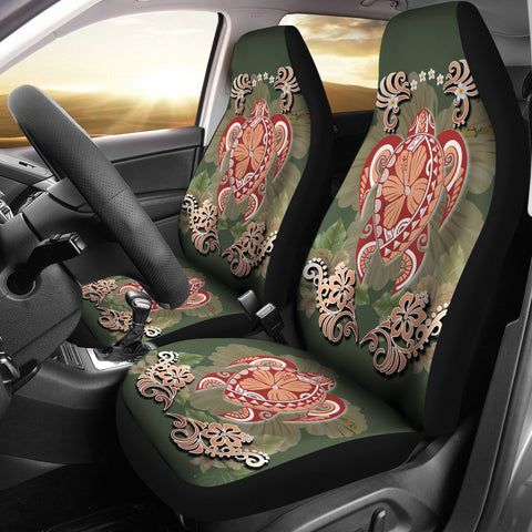 Image of Hawaii Turtle Hibiscus Plumeria Car Seat Covers - Jessi Style - AH - J3