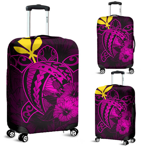 Hawaii Hibiscus Luggage Cover - Harold Turtle