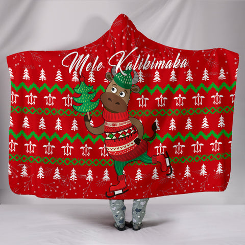 Hawaiian Turtle Christmas Hooded Blanket - Felix Style - AH - J2