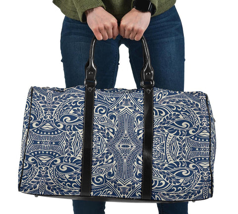 Image of Polynesian Culture Blue White Hawaii Travel Bag