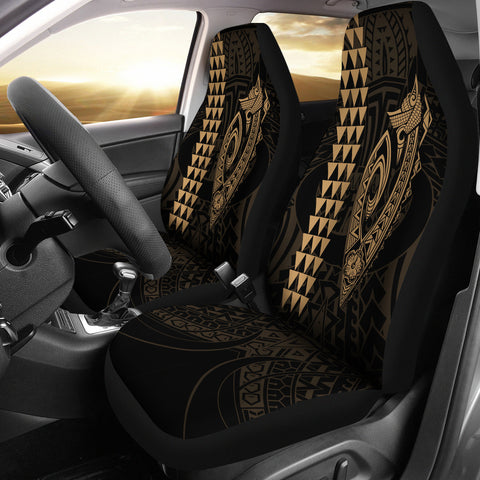 Image of Hawaii Kakau Makau Fish Hook Polynesian Car Seat Covers - Gold - AH - J6 - Alohawaii