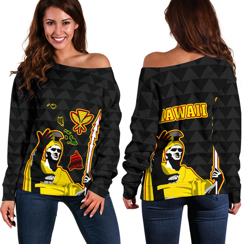 Hawaiian King Guardian Women's Off Shoulder Sweater