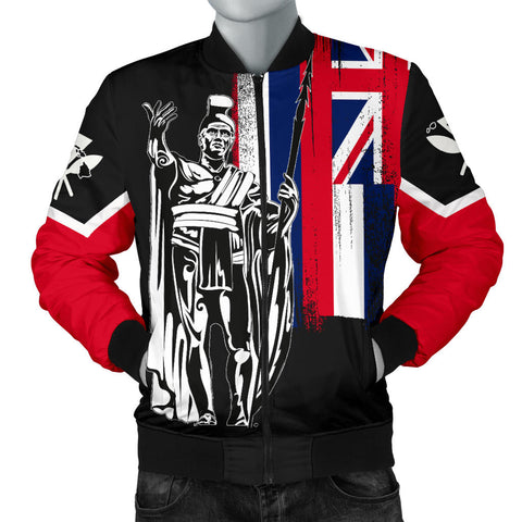 Hawaii King Flag Men's Bomber Jacket - AH J4 - Alohawaii