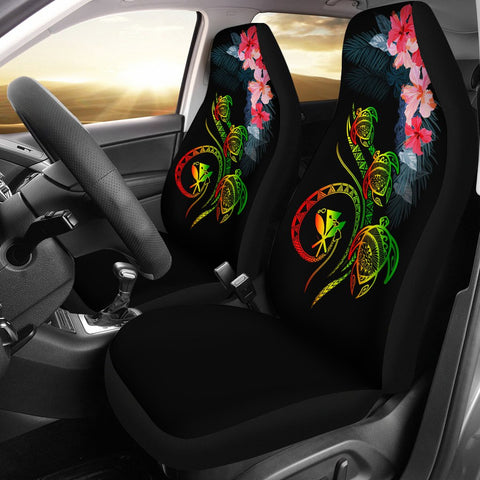Image of Hawaii Turtle Polynesian Tropical Car Seat Cover - Cora Style Reggae