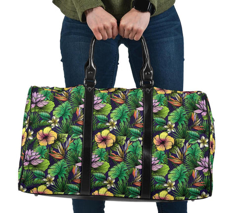 Hawaii Hibiscus And Plumeria Green Hawaii Travel Bag