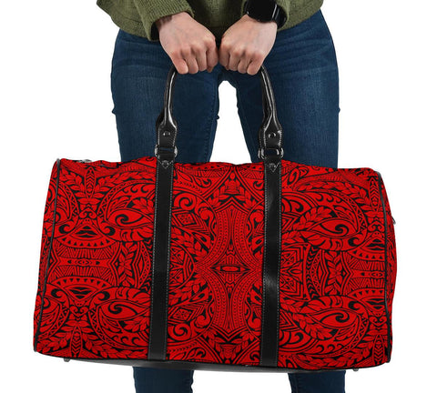 Polynesian Culture Red Hawaii Travel Bag