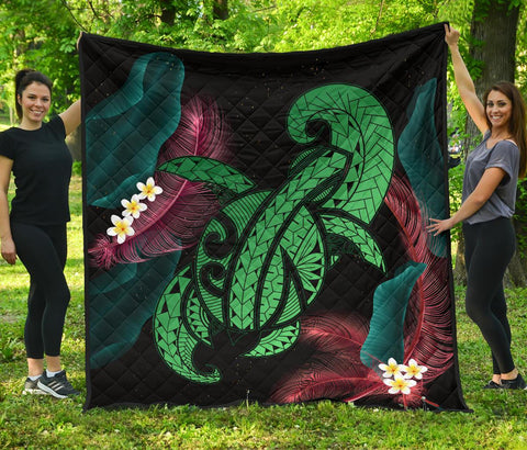 Hawaii Turtle Polynesian Tropical Premium Quilt