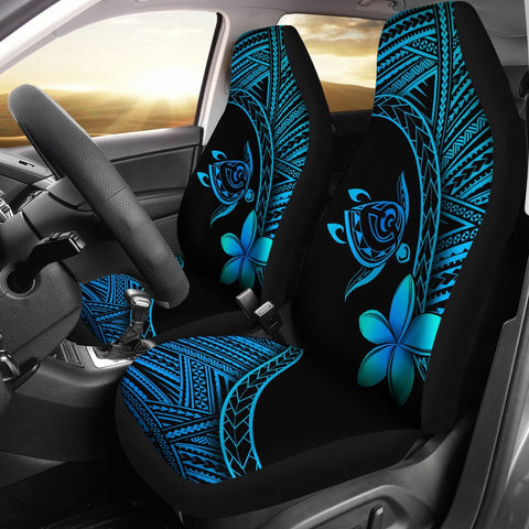 Image of Alohawaii Car Seat Covers - Hawaii Turtle Plumeria Blue - AH J0 - Alohawaii