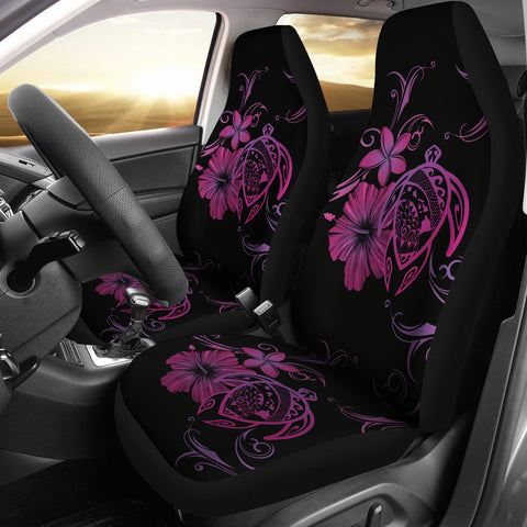 Hawaii Turtle Hibiscus Poly Purple Car Seat Covers
