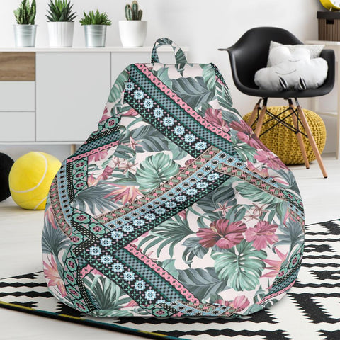 Image of Hawaii Exotic Tropical Flowers In Pastel Colors  Bean Bag Chair - AH - J71 - Alohawaii