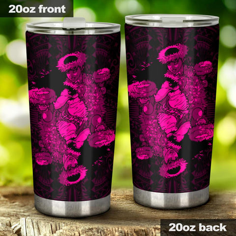 Image of Hawaii Polynesian Hula Girl Tumbler Pink - AH - J5 - Alohawaii