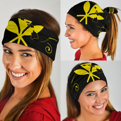 Hawaii Kanaka Map Polynesian Bandana 3-Pack - Yellow  - AH - J4 - Alohawaii