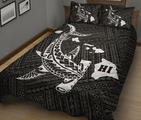 Shark Polynesian Quilt Bed Set