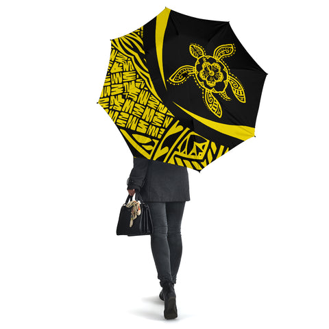 Hawaii Turtle Umbrella Yellow - Circle Style - AH J4 - Alohawaii